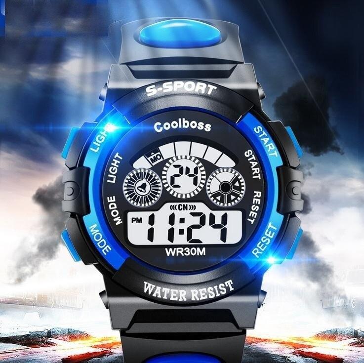 Gran oferta, reloj impermeable para niños y niñas, relojes deportivos digitales LED, reloj de goma de silicona, reloj informal para niños, regalo 533