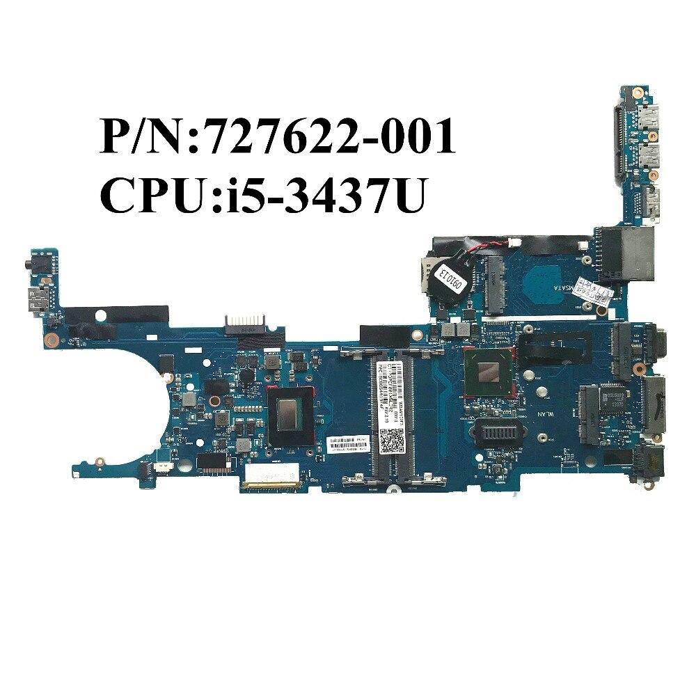 Precios al por mayor para HP EliteBook 9470 M placa base de ordenador portátil con i5-3437U QM77 727622-001 6050A2569401-MB-01 100% de funcionamiento