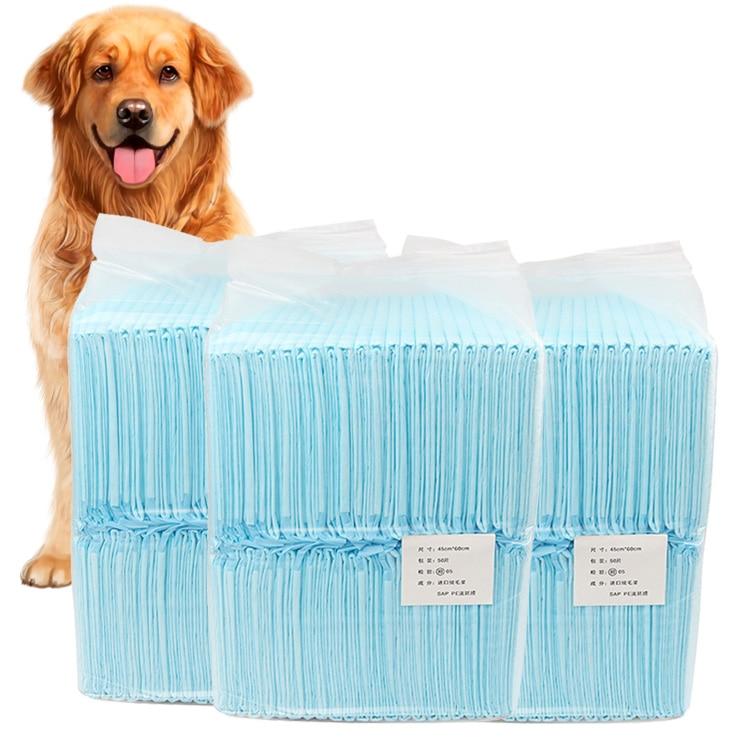 1 Bag Pet Blue Convenient Soft Absorbent Cat Dog Urine Pad Disposable Diaper Pet Dog Mat Nappy Pet Pee Paper Puppy Training XH8Z