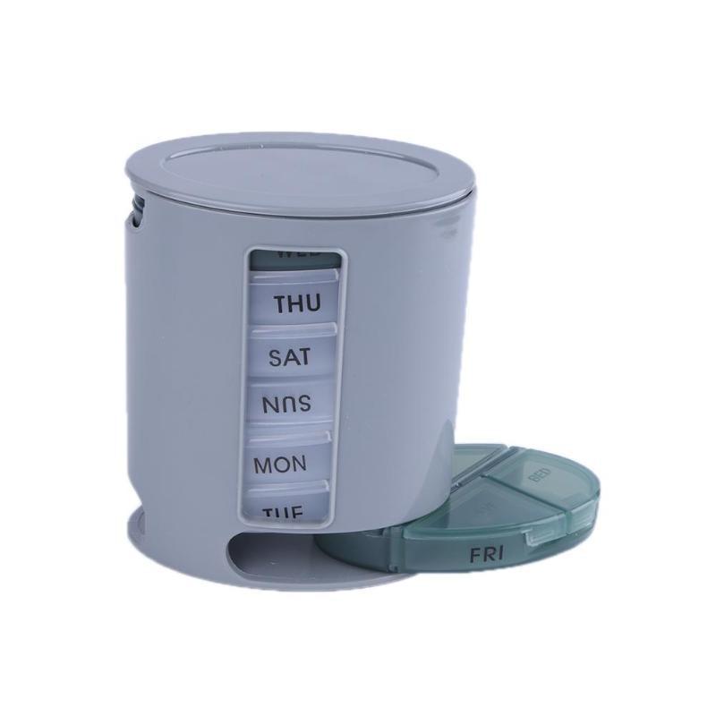 7 días portátil organizador de pastillas de cajón caja de almacenamiento semanal compacto Mini tableta caja de clasificador ABS + PC caja de vitamina medicina titular de la