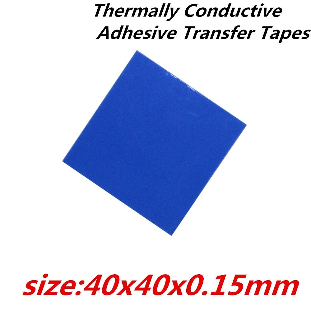 30 pçs/lote 40x40mm pad fita dupla face Condutor térmico Adesivas Fitas de Transferência térmica para dissipador de calor do radiador