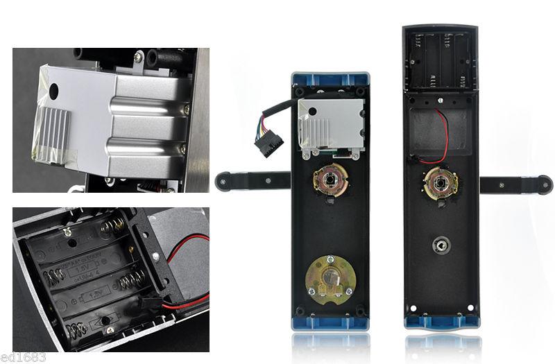 LACHCO  Biometric Fingerprint Electronic Door Lock Password Keypad Key Stainless Steel Latch Bolt Smart Code Lock  L16074BS
