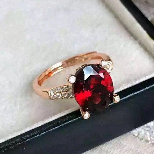 Amantes atacado natural de cristal granada Natural de cristal anel de prata esterlina 925 clubes De Janeiro pedra de sorte
