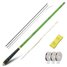 DONQL Telescopic Fishing Rod 3.6-7.2m Ultra-light Carbon Fiber Carp Feeder Rod Portable Hand Pole Fishing Tackle