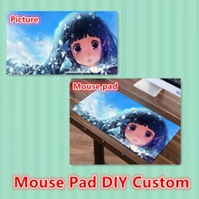 FFFAS OEM Custom Print Logo Mouse Pad Mat Big Sexy Gamer Gaming Playmat Large Black Customized MousePad for Laptop Computer Cat