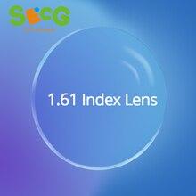 Radiation Protection 1.61 High-Index Asphere Thin Clear Optical Lens HMC Anti UV Myopia Hyperopia Prescription Lenses 2Pcs