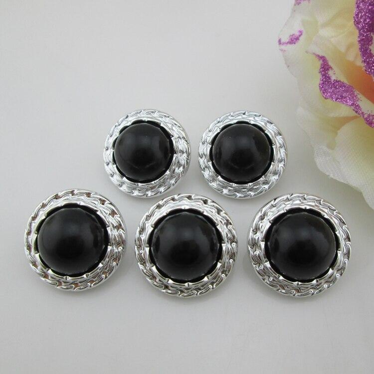 ( Pb67 22 mm ) 20 pcs de preto de resina botão para centro de flor grampos de cabelo
