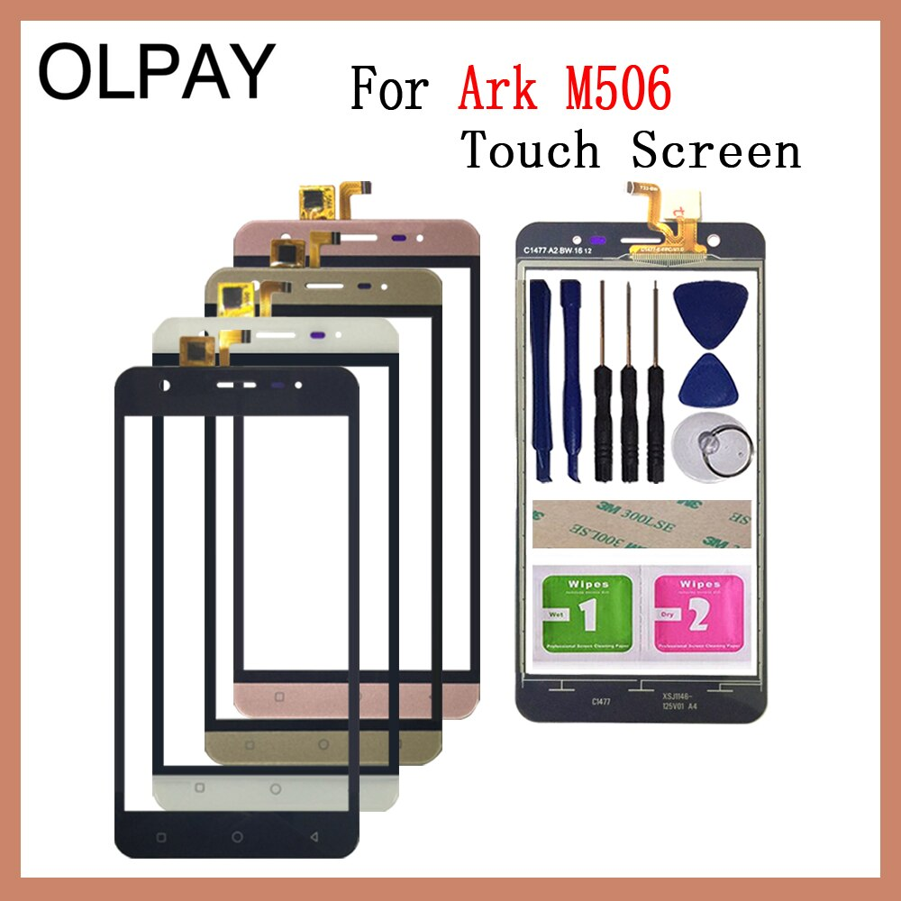Mobile Phone TouchScreen For Ark Benefit M506 5.0 inch Touch Screen Digitizer Panel Front Glass Lens