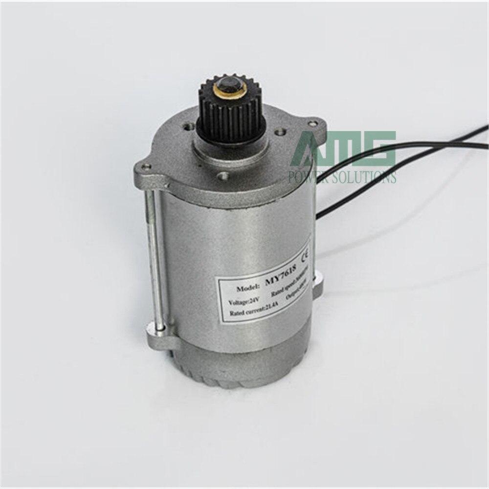 MY7618 450W DC 24V/36V 3200rpm, motor de escobilla de alta velocidad para triciclo eléctrico, motor de escúter eléctrico, piñón/correa de polea