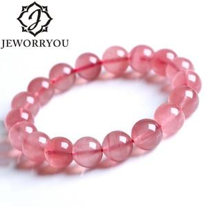 6-10mm Natural Rose Quartz Crystal Bracelet Love Bracelets Bangles Loose Round Bracelet Femme For Lover