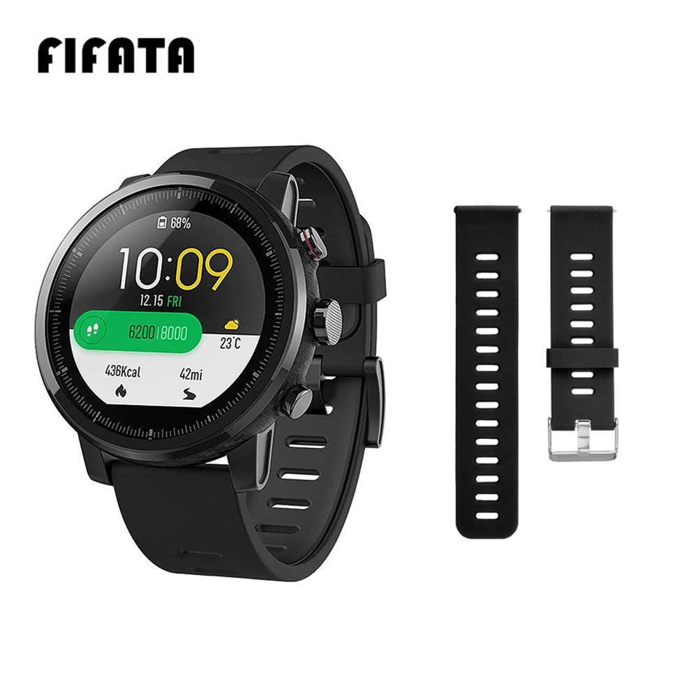 FIFATA For Huami Stratos Band Silicone Strap For Xiaomi Amazfit Stratos 2 2S 3 Pace GTR 47mm GTR 2 W