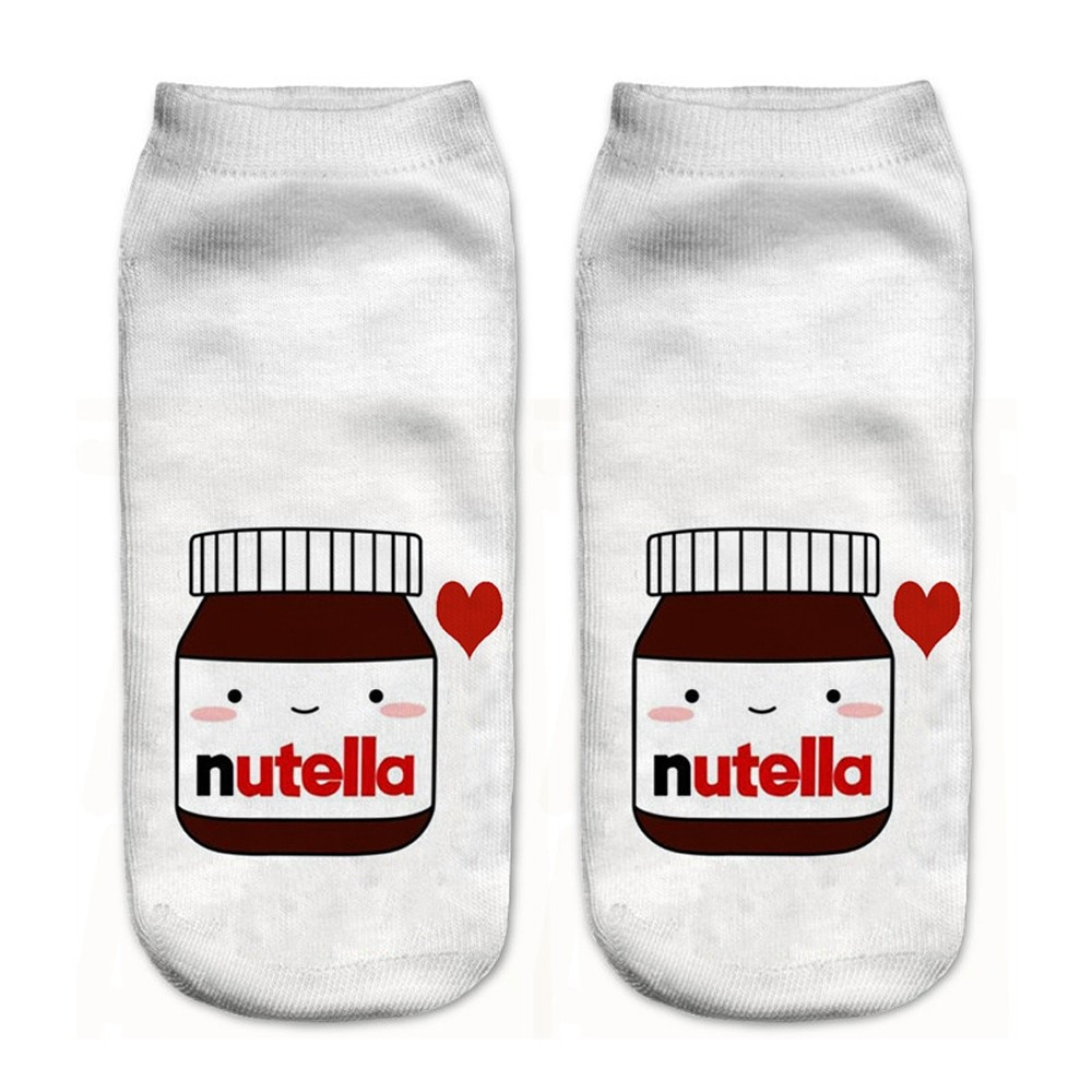 3D lindo estampado para medias calcetines de deporte mediano divertido Mujer calcetines Unisex coloridos mujer