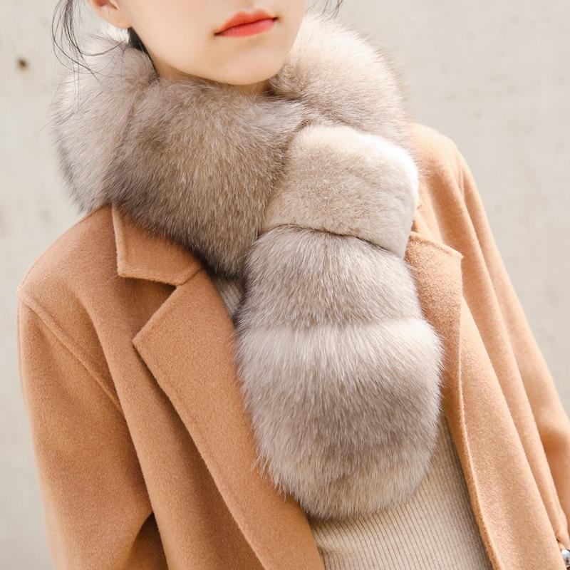 Fox Fur Collar For Hood Natural Trim Scarf Big 100% Real Custom Made big real raccon fur