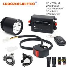 LDDCZENGHUITEC Universal Motorcycle  LED Fog Lights Taillight Anti-fog Parking Stop Brake Lamps Warning Tail Light Motor Styling