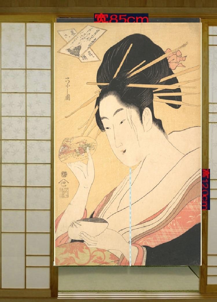 Beaux rideaux décoratifs de cuisine japonaise et coréenne   Rideau en tissu, rideau de porte de salle de bains, sac de courrier