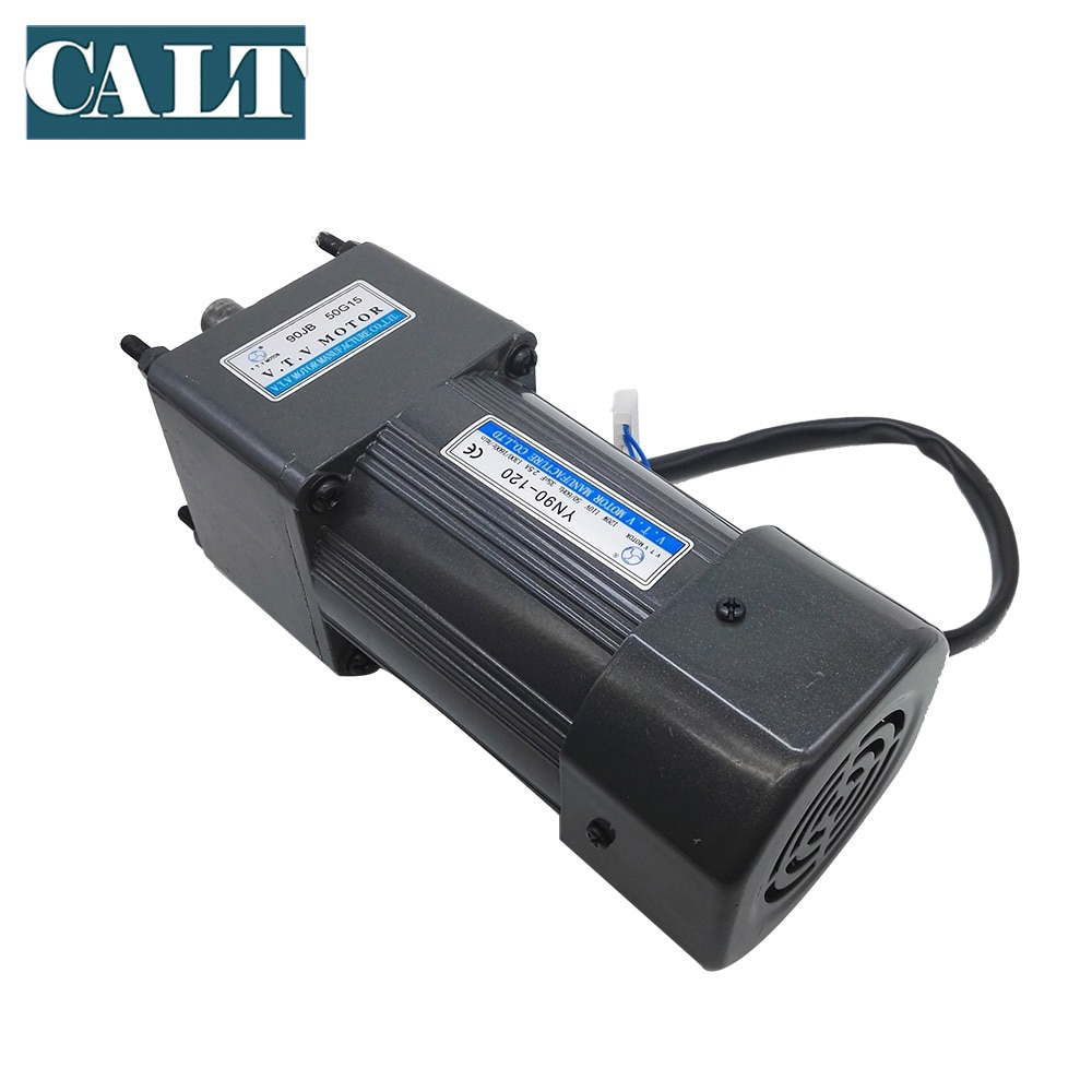 YN90-120 1300/1550rpm 110Ac gear motor 1:3-1:180 gear ratio gear box  Single phase 5wire Adjustable speed motor 120W enlarge