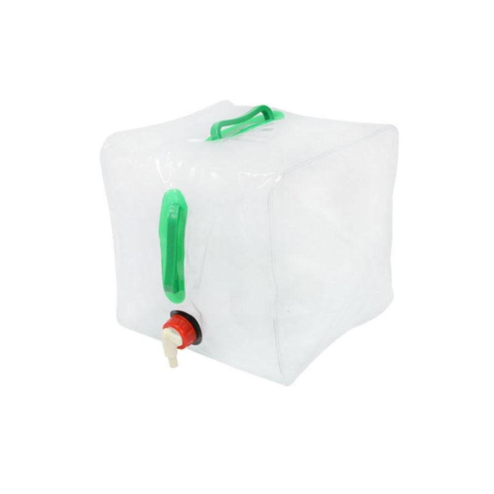 Mounchain 20L plegable al aire libre transparente bolsa para agua y bebidas Camping supervivencia de emergencia de agua soporte de almacenamiento bolsa