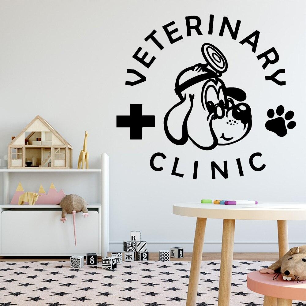 Креативная ветеринарная виниловая настенная наклейка, Настенный декор для домашнего животного магазина, украшение для больницы, настенные...