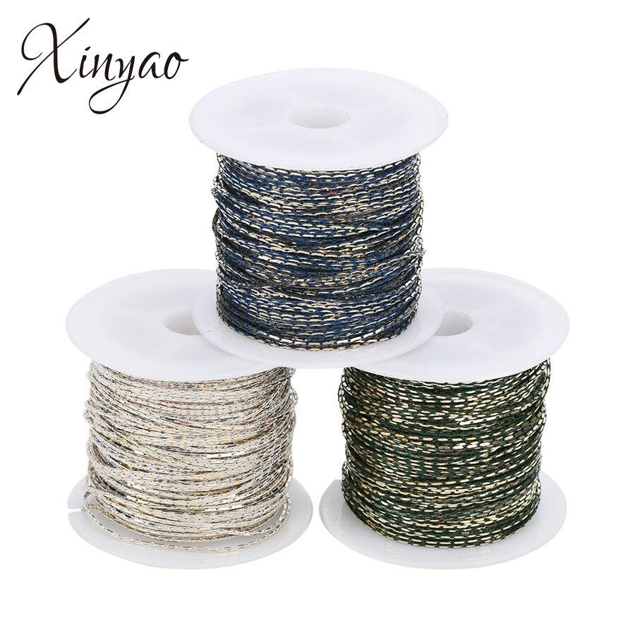XINYAO 10 Yards/roll Zwarte Kleur Slijpen Metalen Koper Bulks Ketting 1mm Breedte Link Rolo Kettingen Voor Diy sieraden Maken