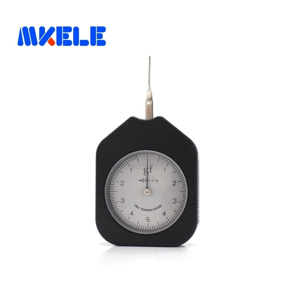 SEG-5-1 tensiómetro de 5g medidor de Dial analógico herramientas de fuerza de puntero único medidor de tensión