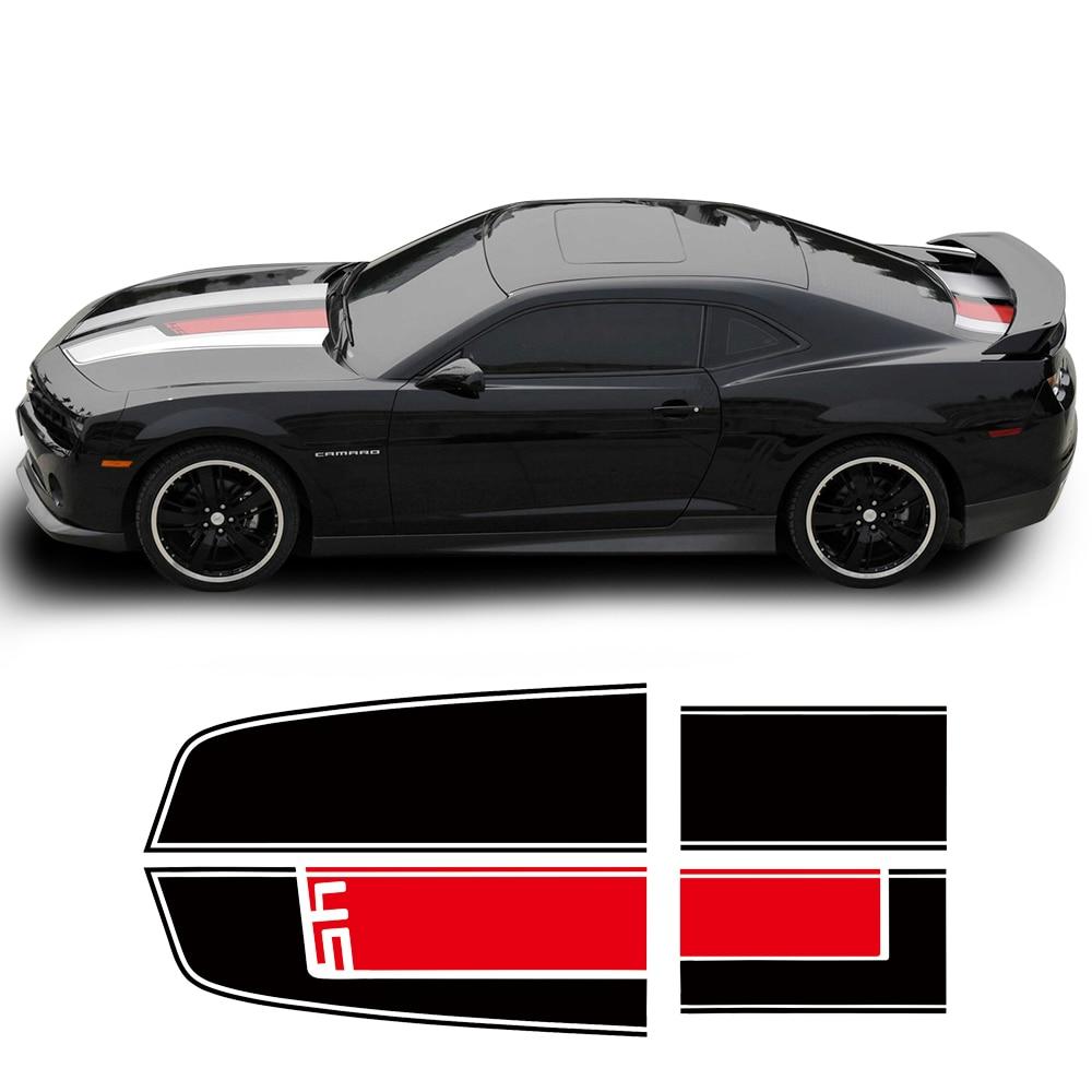 Car Hood Trunk Engine Cover Bonnet Bumper Rear Racing Stripe Vinyl Decal Sticker For Chevrolet Camaro SS Z28 ZL1 RS Accessories