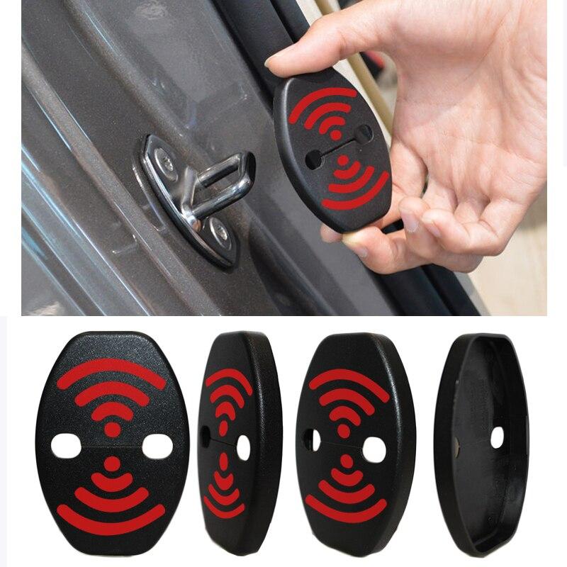 DIY Lock Aufkleber Auto Türschloss Abdeckung Fit Für Toyota Sienna Zelas Sequoia Tacoma Hilux FJ cruiser 4 stücke Pro set