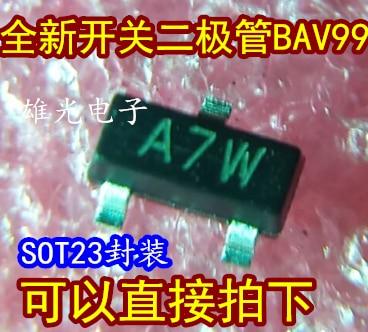 Envío gratuito BAV99LT1G BAV99 A7W SOT23