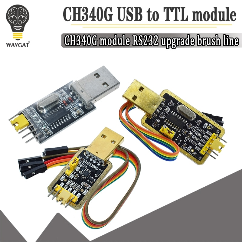 CH340 módulo USB a TTL CH340G actualización descargar un pequeño cepillo de alambre placa STC microcontrolador placa USB a serie en lugar PL2303