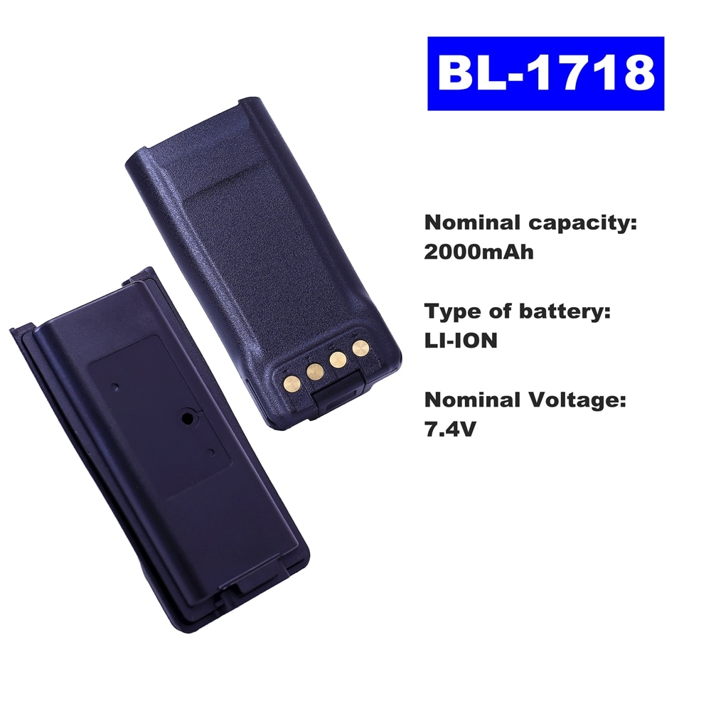 7.4V 2000mAh LI-ION Radio Battery BL-1718 For HYT Walkie Talkie TC700G/3000G/720S Two Way Radio