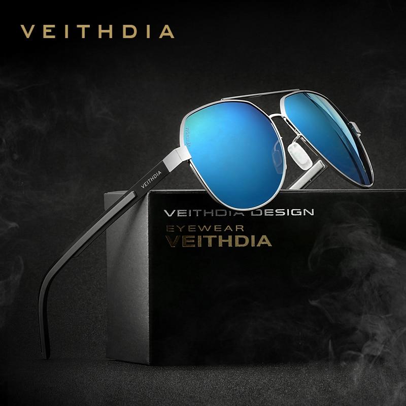 VEITHDIA 2020 Classic Men Sun Glasses Polarized Blue Coating Mirror Lens Women's Sunglasses Eyewear Accessories For Women 3556