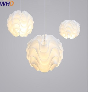 IWHD Single Head LED Pendant lamp Modern Fashion Acryl Pendant Lights Dining Room Home Lighting Fixtures Lampen White Lamparas