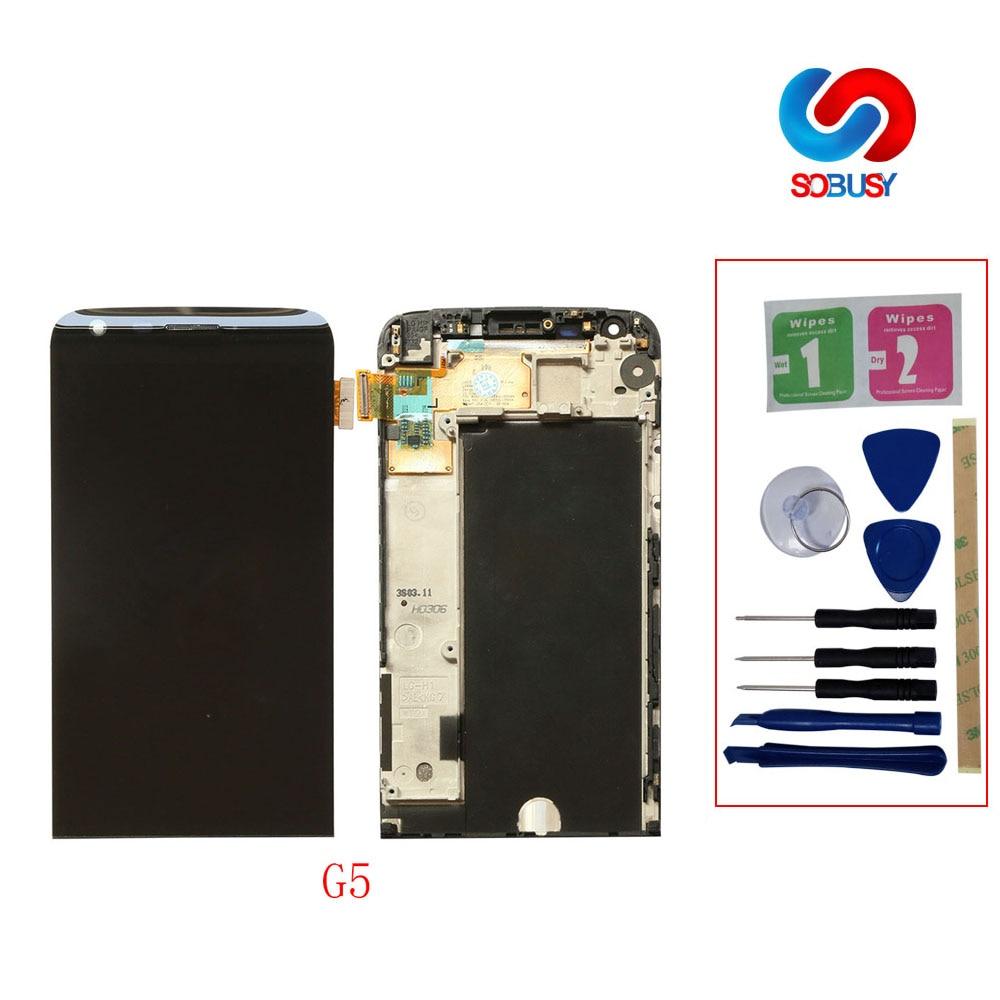 "Pantalla LCD IPS G5 Original de 5,3 ""para LG G5 LCD Panel de Pantalla táctil con marco H850 H840 H860 Pantalla de repuesto para LG Pantalla"