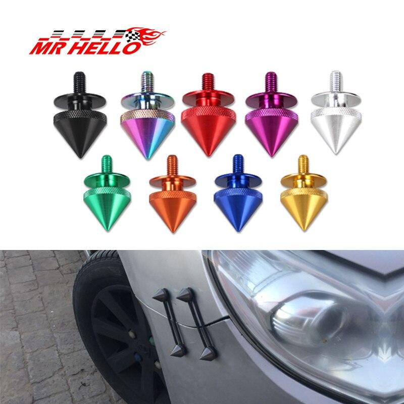 Sujetadores universales de liberación rápida de punta roja para parachoques de coche, escotilla de maletero, tapas de fijación de liberación de aluminio r30