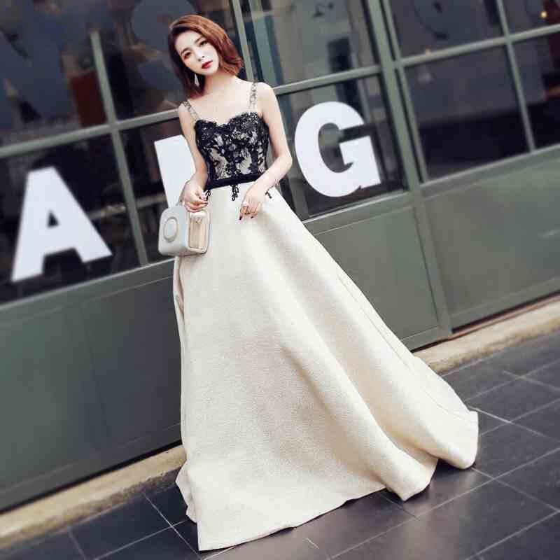 فستان سهرة طويل من الدانتيل الزهري ، فستان حفلة أنيق ، ساتان ، مجموعة جديدة