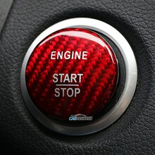 Carmonsons voor Infiniti Q30 Q30S QX30 Koolstofvezel Motor Start Stop Knop Sticker Cover Accessoires Auto Styling