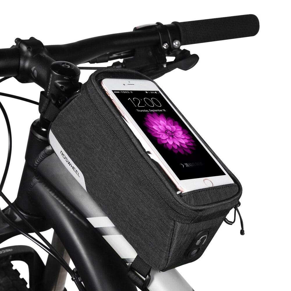 ROSWHEEL ESSENTIAL Bicycle phone bags MTB Road Bike upper tube bag PVC Touch screen Cycling equipment