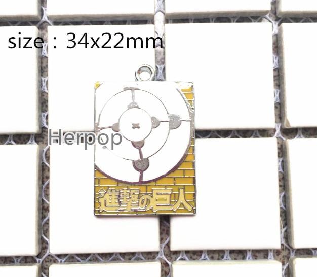 Lote 20 piezas ataque a la caricatura de Titán ataque a los colgantes de Metal esmaltado Titán joyería DIY fabricación de accesorios de teléfono móvil D-08