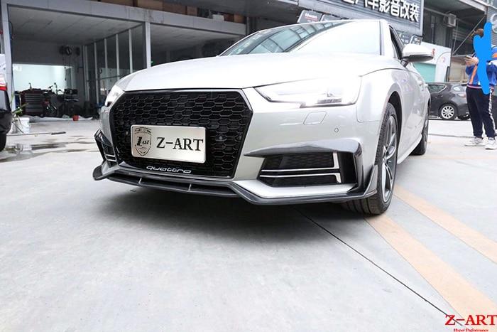 Z-ART A4 aerokit para Audi 2016-2019 fibra de carbono kit de ajuste para Audi A4 B9 body kit de fibra de carbono para Audi A4 2016-2019
