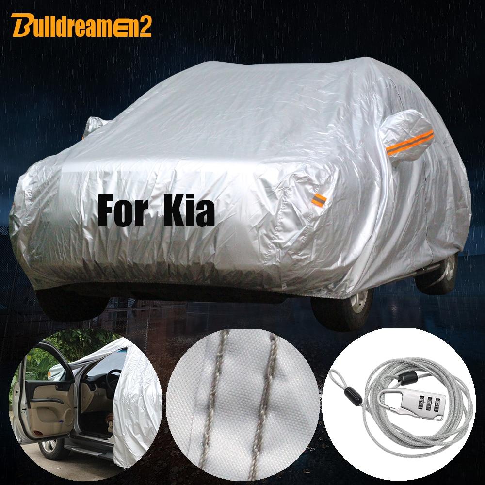 Buildreamen2 водонепроницаемый чехол для автомобиля, защита от солнца, снега, дождя, пыли, Чехол Для Kia Picanto K2 Cerato Forte K3 Optima Shuma