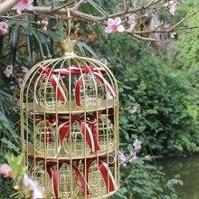Mini metall gold vintage retro vogel käfig Kreative süßigkeitskästen babypartybevorzugung geschenk für gäste party geburtstag Souvenir 30 stücke