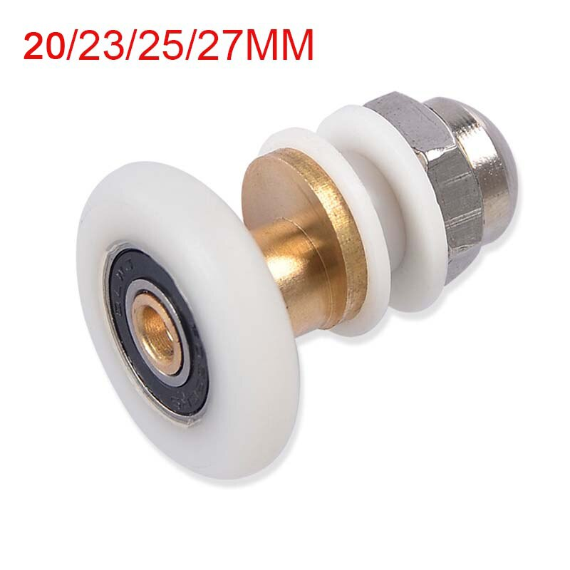 Free Shipping 1Piece Brass Single Eccentric Shower Door Rollers Wheels Applied to 4-6mm Cabin CP190-1