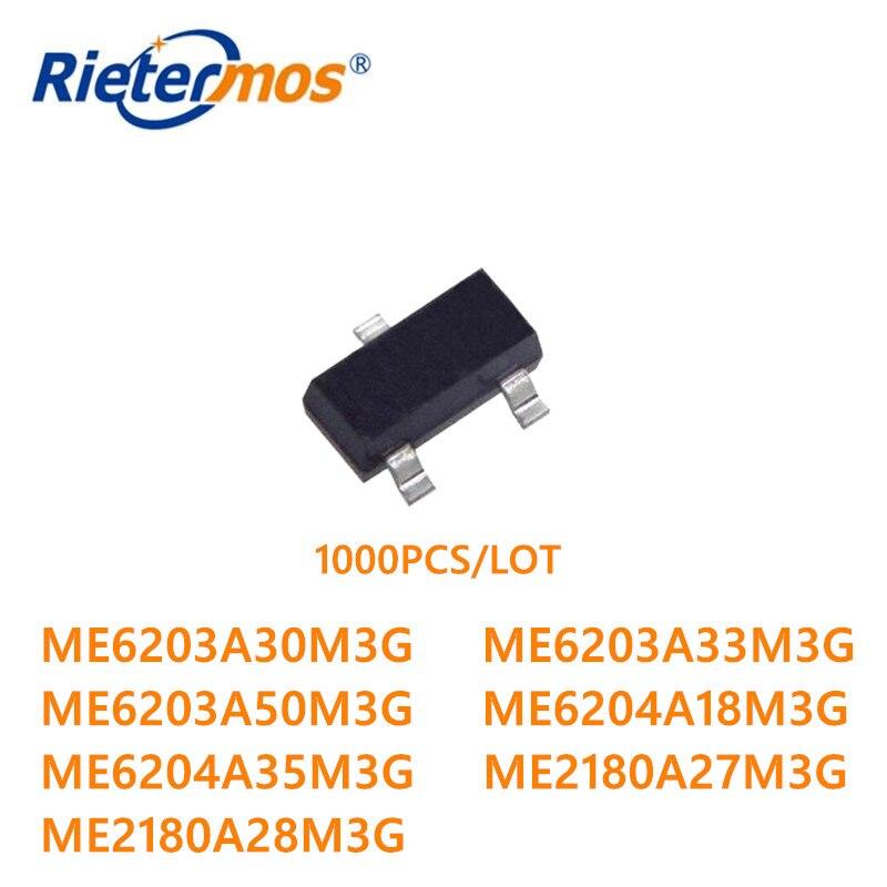 Me6204a18m3g Me6204a35m3g Me2180a27m3g Me2180a28m3g Sot23-3 Original 1000 Pcs Me6203a30m3g Me6203a33m3g Me6203a50m3g