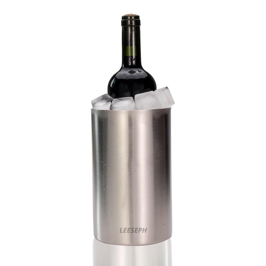 مبرد نبيذ-دلو للثلج مزدوجة جدار الفولاذ المقاوم للصدأ-متعددة الأغراض استخدام حامل أواني المطبخ و زهرة زهرية