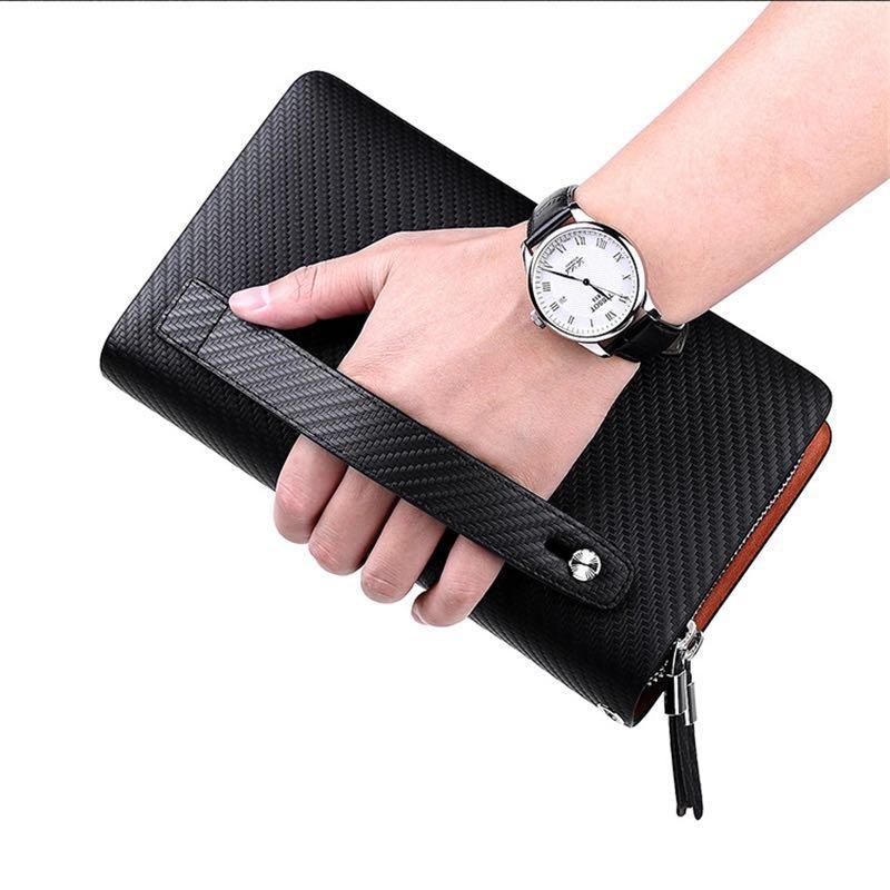 Купить с кэшбэком Business  Brand Blue Fashion Zipper Long Wallet Phone Credit Card Holders Handbag pl170