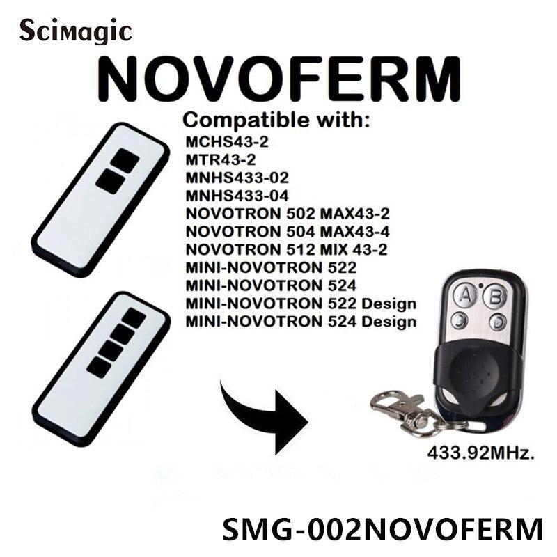 Novoferm Mini-Novotron 522, 524 совместимый пульт дистанционного управления 433,92 MHz ворота управления Novoferm код прокатки открывалка двери гаража