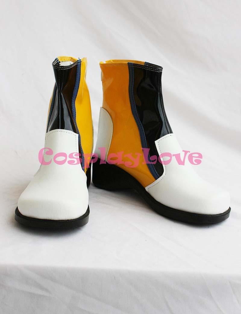 العرف انمي ياباني الأبيض فوكالويد Kaito تأثيري أحذية طويلة أحذية لجميع القديسين عيد الميلاد حفلة عيد ميلاد