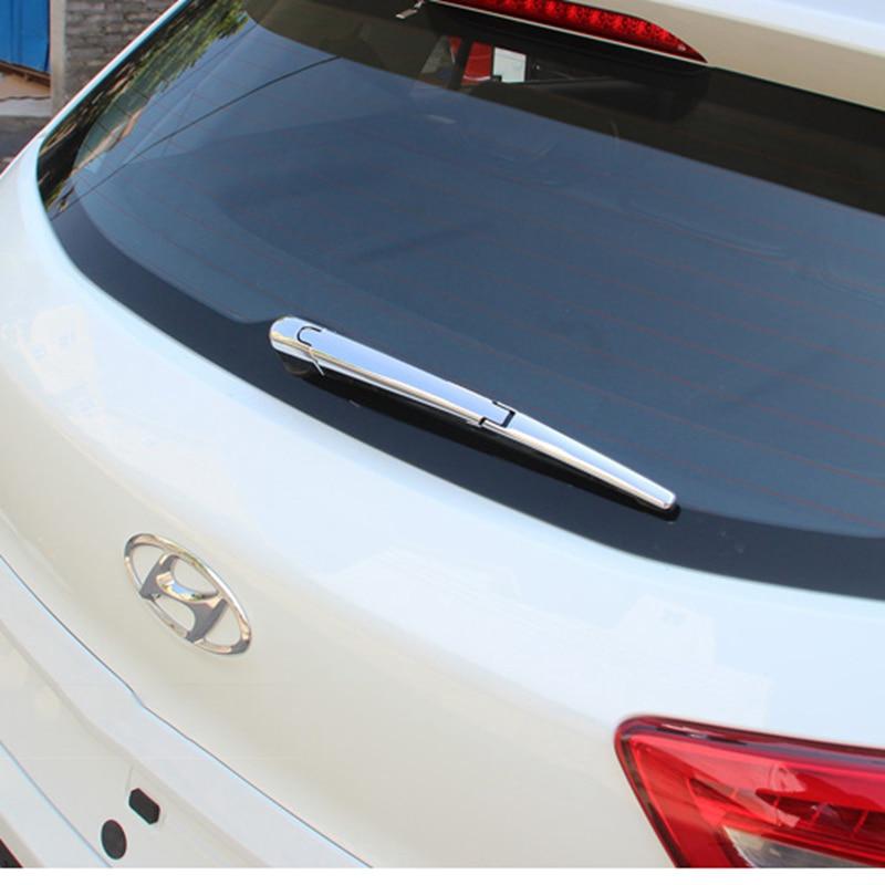 MONTFORD para Hyundai Creta IX25 2015 2016 2017 cubierta de limpiaparabrisas trasero cromado ABS embellecedores decoración de limpiaparabrisas Exterior