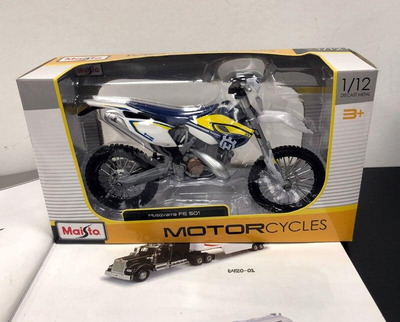 Wholesale 5pcs/lot MAISTO 1/12 Scale Motorbike Model Toys Italy Husqvarna FE 501 Diecast Metal Motorcycle Model Toy