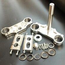 Guidon universel en aluminium triple barre de serrage Riser 201mm/210mm/230mm/240mm/255mm pour fourche avant 22mm guidon saleté pit bike