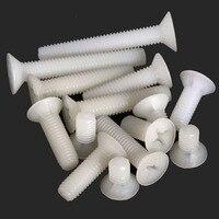 10pcs M8 Countersunk head Phillips screw Nylon screws Plastic grub bolt 10mm-30mm Length